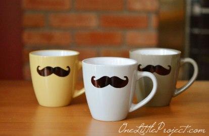 mustache mugs